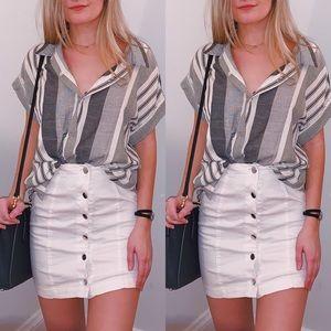 Camille White Denim Mini Skirt